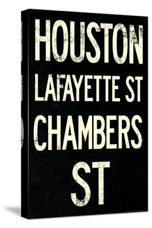 New York City Houston Chambers Vintage RetroMetro Subway Poster--Stretched Canvas Print