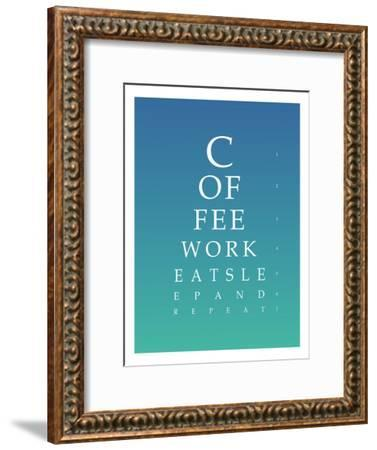Daily Routine Eye Chart--Framed Art Print
