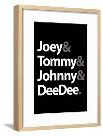 Joey Tommy Johnny and DeeDee Music Poster--Framed Premium Giclee Print