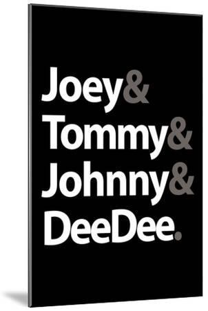 Joey Tommy Johnny and DeeDee Music Poster--Mounted Premium Giclee Print