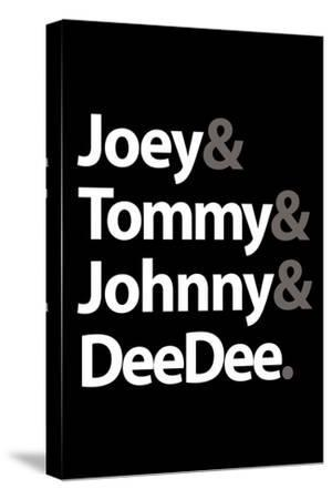Joey Tommy Johnny and DeeDee Music Poster--Stretched Canvas Print