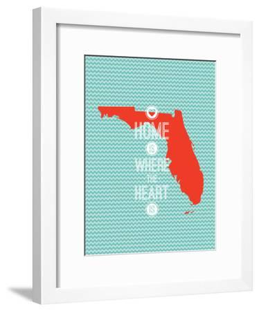 Home Is Where The Heart Is - Flordia--Framed Art Print