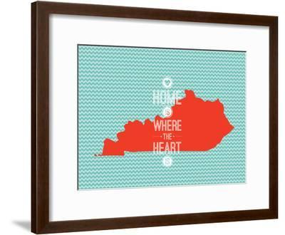 Home Is Where The Heart Is - Kentucky--Framed Art Print