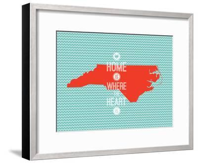Home Is Where The Heart Is - North Carolina--Framed Art Print