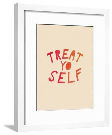 Treat Yo Self--Framed Art Print
