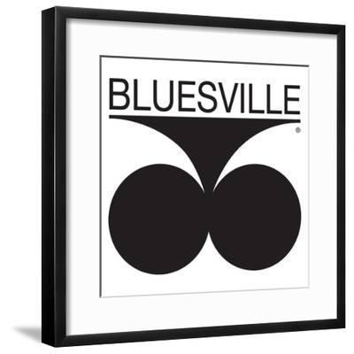 Bluesville Records Logo--Framed Art Print