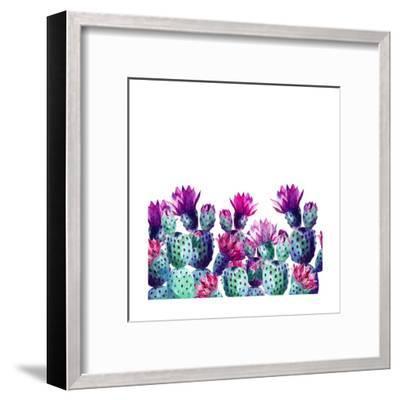 Watercolor Cactus-tanycya-Framed Art Print