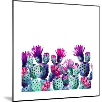 Watercolor Cactus-tanycya-Mounted Art Print