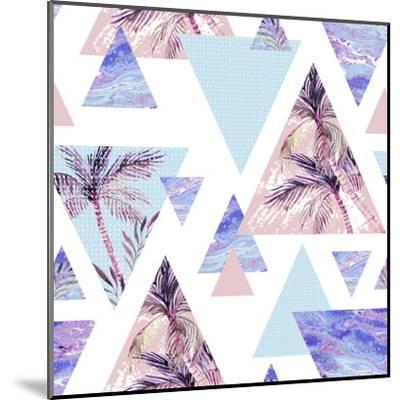 Abstract Summer Geometric Seamless Pattern-tanycya-Mounted Art Print