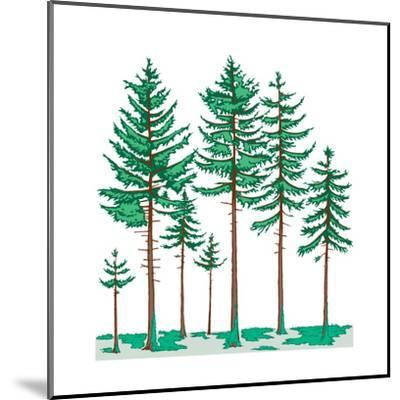 Vegetation Profile of a Boreal Forest. Biosphere, Earth Sciences-Encyclopaedia Britannica-Mounted Art Print