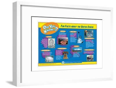 Fun and Interesting Random Facts About the United States-Encyclopaedia Britannica-Framed Art Print