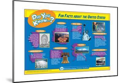 Fun and Interesting Random Facts About the United States-Encyclopaedia Britannica-Mounted Art Print