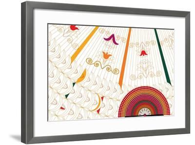 Nature Fan, Flower Yellow-Bel?n Mena-Framed Giclee Print