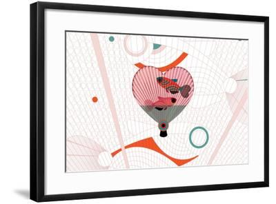 Nature Fan, Fish-Bel?n Mena-Framed Giclee Print