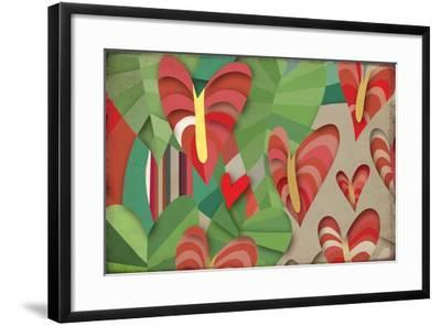 Selvática, Anturios Color-Bel?n Mena-Framed Giclee Print
