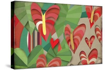 Selvática, Anturios Color-Bel?n Mena-Stretched Canvas Print