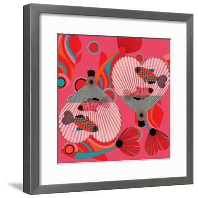 Nature Fan, Fish Color-Belen Mena-Framed Giclee Print