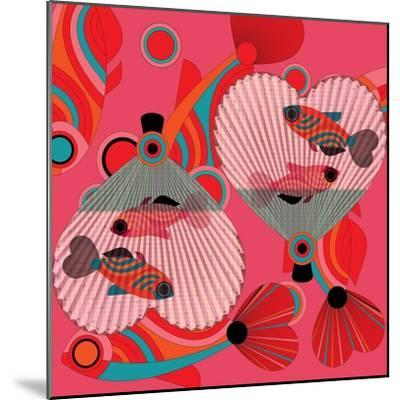 Nature Fan, Fish Color-Belen Mena-Mounted Giclee Print