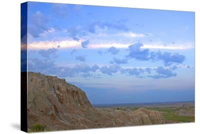 A Bighorn Sheep, Ovis Canadensis, on Ridge in Badlands National Park-Donna O'Meara-Stretched Canvas Print