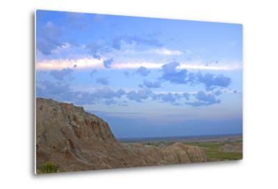 A Bighorn Sheep, Ovis Canadensis, on Ridge in Badlands National Park-Donna O'Meara-Metal Print