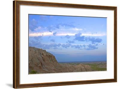 A Bighorn Sheep, Ovis Canadensis, on Ridge in Badlands National Park-Donna O'Meara-Framed Photographic Print