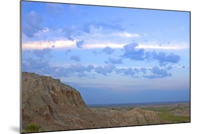 A Bighorn Sheep, Ovis Canadensis, on Ridge in Badlands National Park-Donna O'Meara-Mounted Photographic Print
