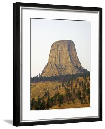 Devils Tower National Monument in Wyoming, Usa-Donna O'Meara-Framed Photographic Print