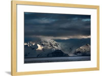 A Dramatic Sunrise over Mountains in Iceland-Alex Saberi-Framed Photographic Print