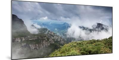 Morro Da Igreja Rocks in the Clouds and Mists Near Urubici in Santa Catarina, Brazil-Alex Saberi-Mounted Photographic Print