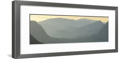 Early Morning Fog over the Olympic Mountains from Hurricane Ridge-Raul Touzon-Framed Photographic Print