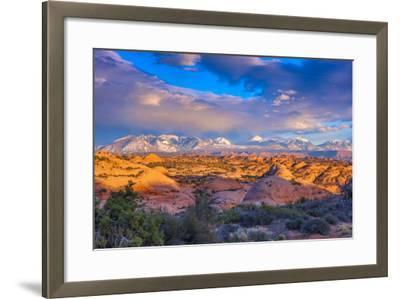 A Winter Sunset in Arches National Park-Ben Horton-Framed Photographic Print