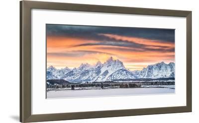 A Dramatic Sky Above Teton National Park-Charlie James-Framed Photographic Print