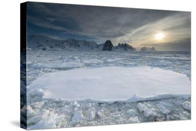 Entrance of the Lemaire Channel Along the Antarctic Peninsula-Jeff Mauritzen-Stretched Canvas Print