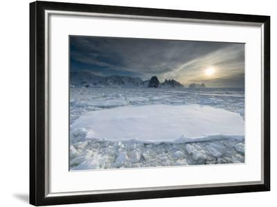 Entrance of the Lemaire Channel Along the Antarctic Peninsula-Jeff Mauritzen-Framed Photographic Print