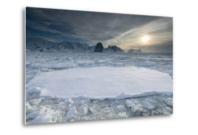 Entrance of the Lemaire Channel Along the Antarctic Peninsula-Jeff Mauritzen-Metal Print