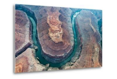 Aerial View of the Colorado River Flowing Through the Grand Canyon-Peter Mcbride-Metal Print