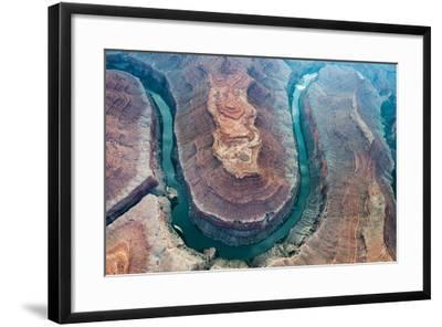 Aerial View of the Colorado River Flowing Through the Grand Canyon-Peter Mcbride-Framed Photographic Print