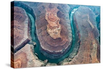 Aerial View of the Colorado River Flowing Through the Grand Canyon-Peter Mcbride-Stretched Canvas Print