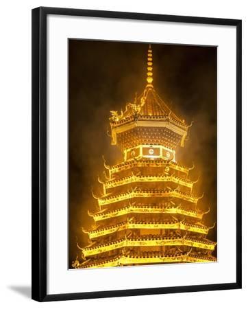 Drum Tower in Guizhou, China-Tino Soriano-Framed Photographic Print