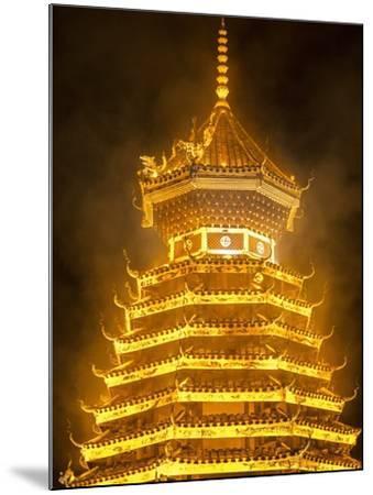 Drum Tower in Guizhou, China-Tino Soriano-Mounted Photographic Print