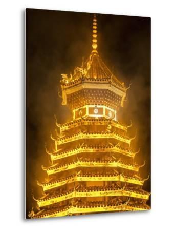 Drum Tower in Guizhou, China-Tino Soriano-Metal Print