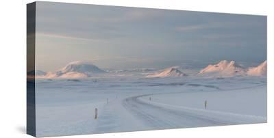 A Large Panorama of the Vatnajokull National Park Landscape in Iceland-Alex Saberi-Stretched Canvas Print