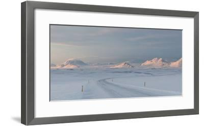 A Large Panorama of the Vatnajokull National Park Landscape in Iceland-Alex Saberi-Framed Photographic Print