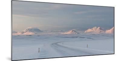 A Large Panorama of the Vatnajokull National Park Landscape in Iceland-Alex Saberi-Mounted Photographic Print