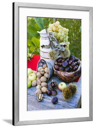 Grapes, Sweet Chestnuts, Apples and Nuts-Eising Studio - Food Photo and Video-Framed Photographic Print