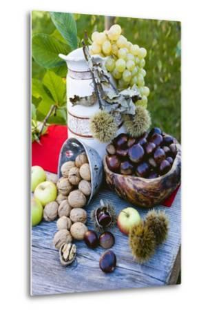 Grapes, Sweet Chestnuts, Apples and Nuts-Eising Studio - Food Photo and Video-Metal Print