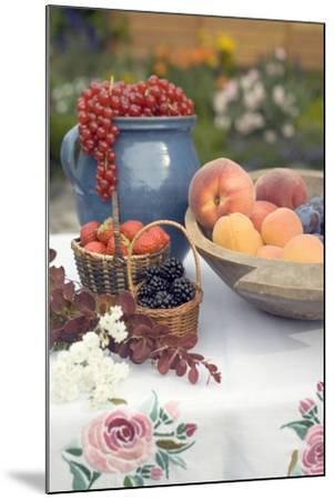 Summer Fruit Still Life on Table in Garden-Foodcollection-Mounted Photographic Print