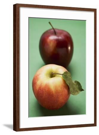 Two Different Apples (Varieties Elstar and Stark)-Foodcollection-Framed Photographic Print