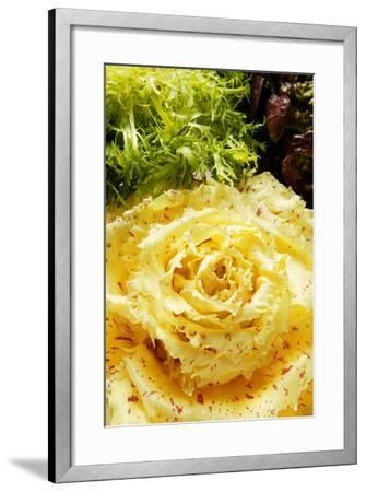 Assorted Salad Leaves with Yellow Radicchio-Foodcollection-Framed Photographic Print