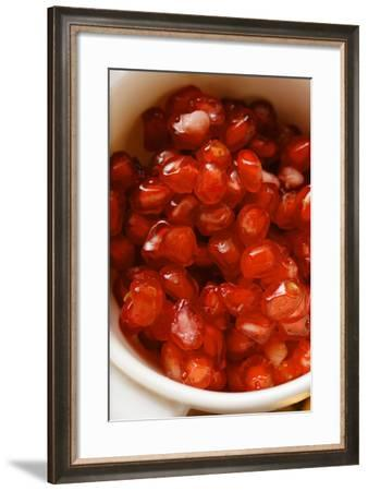 Pomegranate Seeds in Small Bowl-Foodcollection-Framed Photographic Print